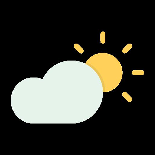 zon met wolk